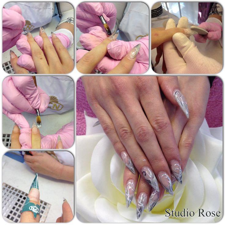 LCN stiletto nails