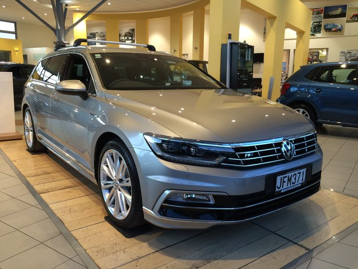 The new Volkswagen Passat Wagon R-Line in New Zealand. Looking great in silver and with a Thule roof rack.  More on this vehicle: http://www.milescontinental.co.nz/blog/car-reviews/arrival-of-the-new-volkswagen-passat/  #volkswagen #vw #passat #cars