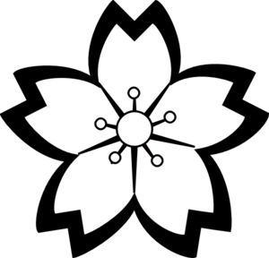 sakura flower outline - Google Search