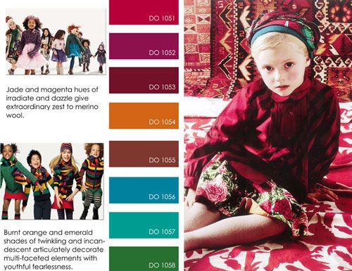 Kidsfashion trends fall winter f/w 2012 2013, color trends, print detail Kindermode trends winter 2012 2013 kleuren