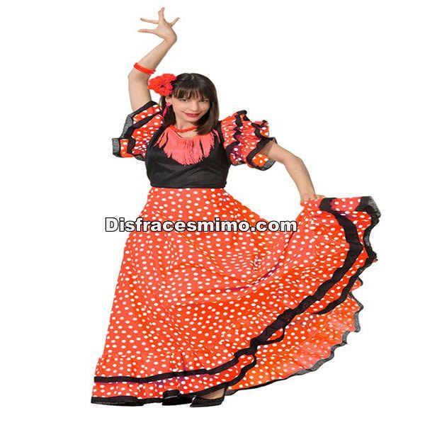 DisfracesMimo, disfraz de sevillana lunares mujer. Podrás echarte un baile con castañuelas con este disfraz de sevillana lunares mujer,taconeando bajo la luz y el color de los farolillos en tus fiestas andaluzas o tematicas.
