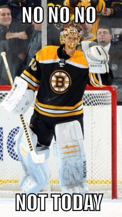 """Tuuka Rask. My favorite words to hear are, """"Save made by Rask!"""""""