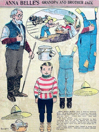 .Anna Belle's Grandpa and Brother Jack paper doll