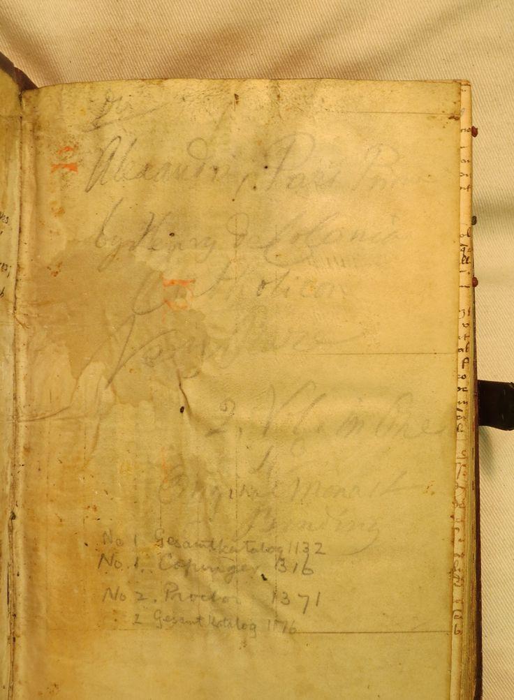 Inc 2. Author: Alexander, de Villa Dei . Title: Grammatica Latina Alexandri. 1497: 1500. Faint 19th century handwriting.