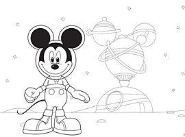 Disney Junior   Print en kleur - Mickey Mouse Clubhuis