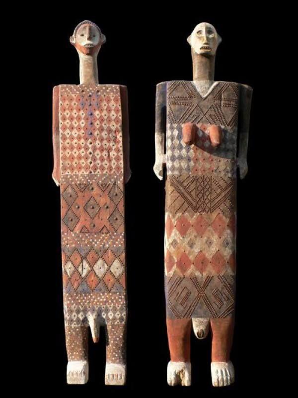 Statues Funeraires, ethnicity Ngata / Bakuma, DR Congo (formerly Zaire), Katanga, ca 1950 (bruno-mignot)