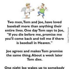 Baseball in Heaven - clean, Jokes, sports