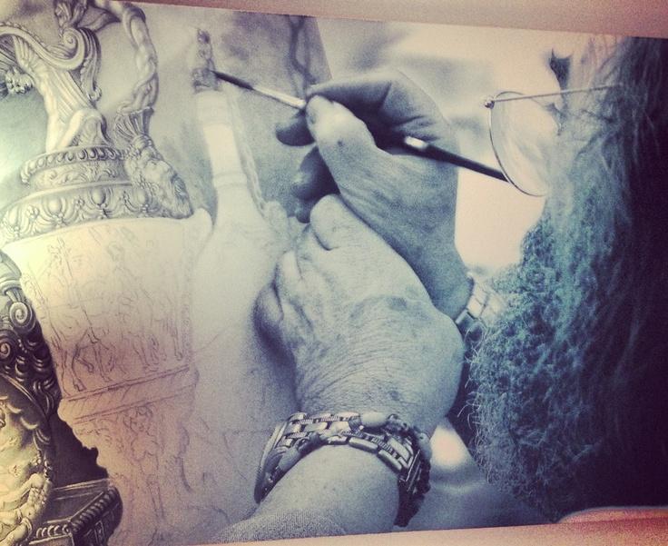 """Photo in Art Design Room Vecchi mestieri/old crafts: """"Ceramic Painter"""". Photographer:Tomassini Gianfranco"""
