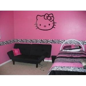 animal print stickers for wall decor.Zebras Border, Kids Stuff, Girls Bedrooms, Kids Room, Girls Room, Bedrooms Girls, Bella Room, Hello Kitty, Bedrooms Ideas