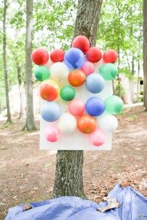 Summer games wouldn't be complete without some water balloons! Pour water into balloons to create a water balloon board! Your friends and children will have fun aiming darts to pop each balloon as it explodes with water.