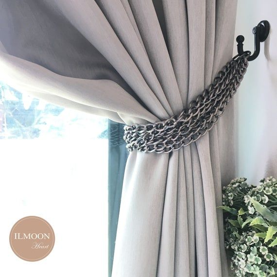 DESIGNS LUXURY READY MADE VALANCE  CURTAINS WITH TIE BACK TASSEL MANY COLORS