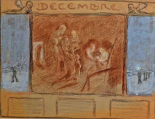 MÜTZNER SAMUEL ( 1884-1959 ) Decembre /December(