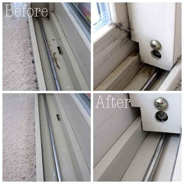 Limpe os trilhos das suas janelas.