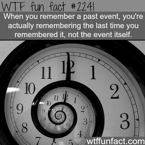 When you remember a past event -WTF fun facts