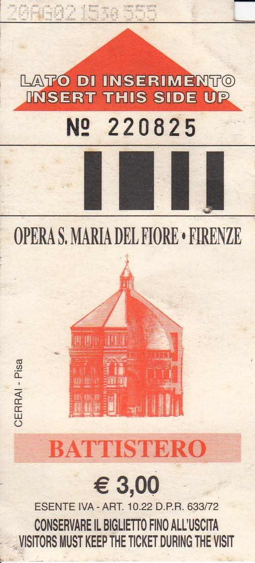 Opera S. Maria del Fiore - Firenze  Battistero