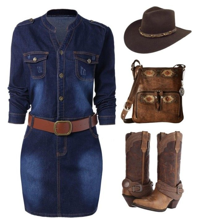"""plus size cowgirl look"" by im-karla-with-a-k ❤ liked on Polyvore featuring Durango, Bailey Western and American West"