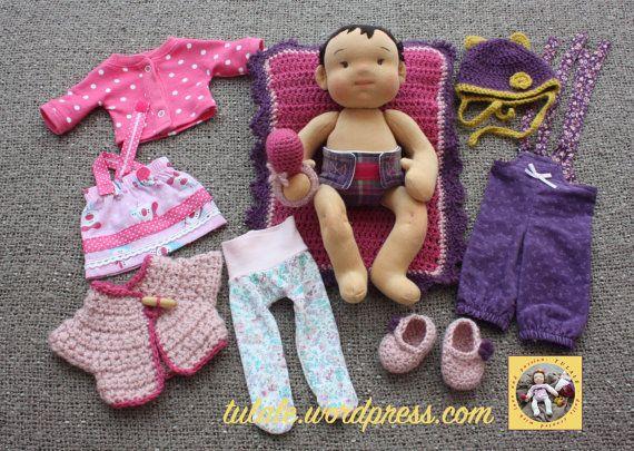 Order a doll 14 inch Custom Waldorf Inspired OOAK rag