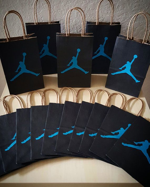 Jumpman Gift Bags-  These gift bags are approx. 8.25 inches tall and 5.25 inches wide. *Perfect for candy and party favors!*  100% recycled
