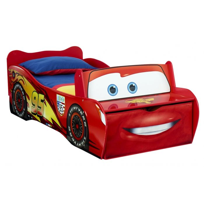 Disney Cars Cars Lightning Mcqueen Feature Toddler Bed With Storage And Seat Kids Bedroom Ideaschildren Bedroom Furniturebedroom