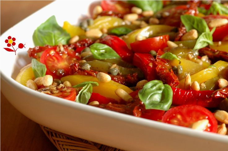 Salade aux poivrons, deux tomates et assaisonnement de choc_2