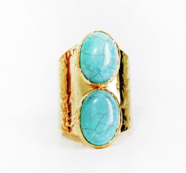 Duo Turquoise Ring