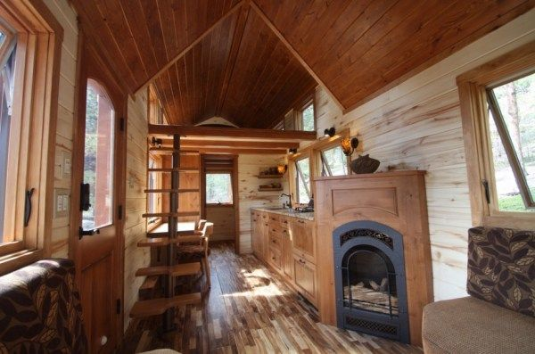 Tiny Stone Cottage On Wheels Small Home Sweet Home Tiny House Blog Tiny House Cabin Tiny House Living