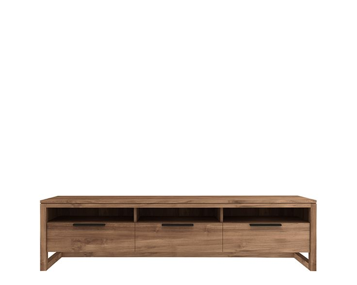 Ethnicraft© - Products » TV Cupboards »Teak LF TV cupboard - 3 drawers