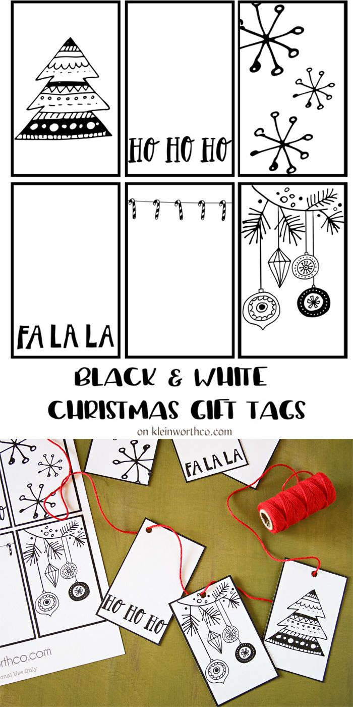 178 best christmas gift tags and printables images on pinterest this awesome guy gift idea paired with these super cute black white free printable gift tags diy christmas solutioingenieria