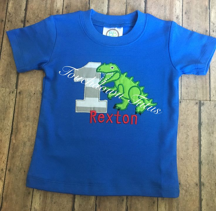 A personal favorite from my Etsy shop https://www.etsy.com/listing/527411951/dinosaur-birthday-shirt-pick-your-number