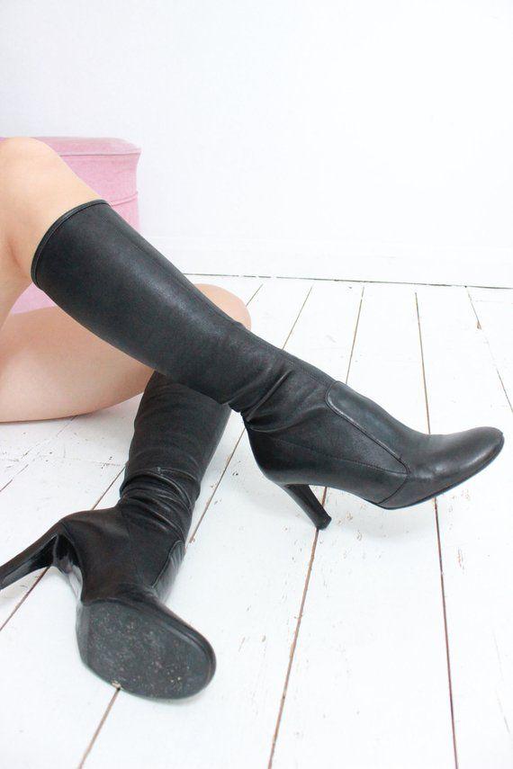 Vintage 90s Skin Tight Black Leather