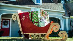 Large & only $40 to make: DIY Santa Sleigh - From Home & Family (Hallmark Channel)