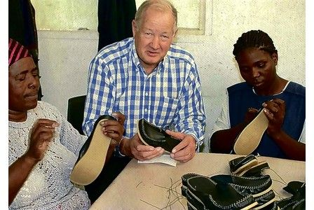 Lance Clark a sixth-generation member of the Clarks family, was asked by the Department of Trade and Industry to visit Durban in South Africa to investigate how its people could be assisted in developing and improving the people's lives via the shoe industry.