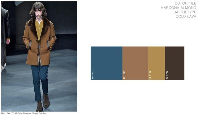 #FashionSnoops FW 17/18 color on #WeConnectFashion. Men's: Dutch Tile - Soul Earth Tones Palette combo