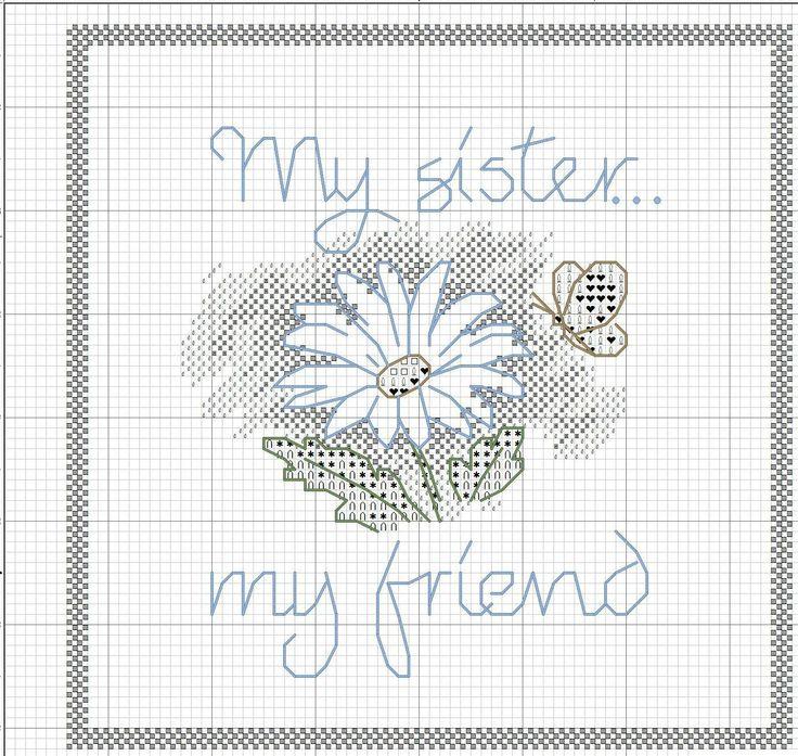 My sister my friend. Simple cross stitch