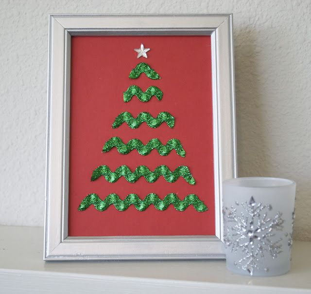 Rick Rack Christmas Tree: These are so festive and easy to make. The possibilities are endless with all the choices of scrapbook paper and rick rack colors available.