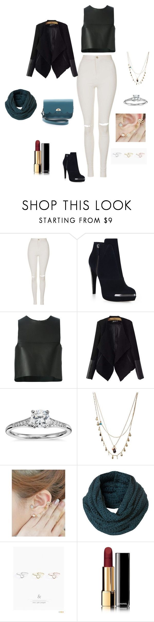 """Başlıksız #2477"" by tubaserdem ❤ liked on Polyvore featuring Topshop, Hervé Léger, Fendi, Chicnova Fashion, Blue Nile, Orelia, Miss21 Korea, Topman, Pinkrocket and Chanel"