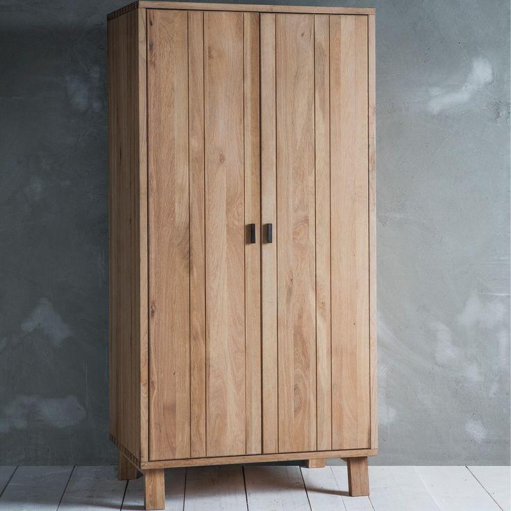 KIELDER SOLID OAK WARDROBE by Frank Hudson | Nordic Furniture | Oak Bedroom Furniture | Rustic Bedroom Ideas