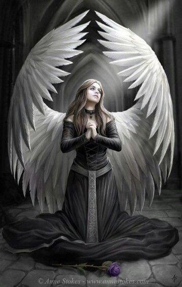 """Anne Stokes - amazing Angel artwork"""