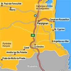 Cities around Perpignan, France