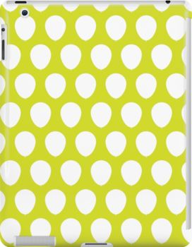 Balloon Pattern Moss - iPad case Eight balloon color schemes to choose from