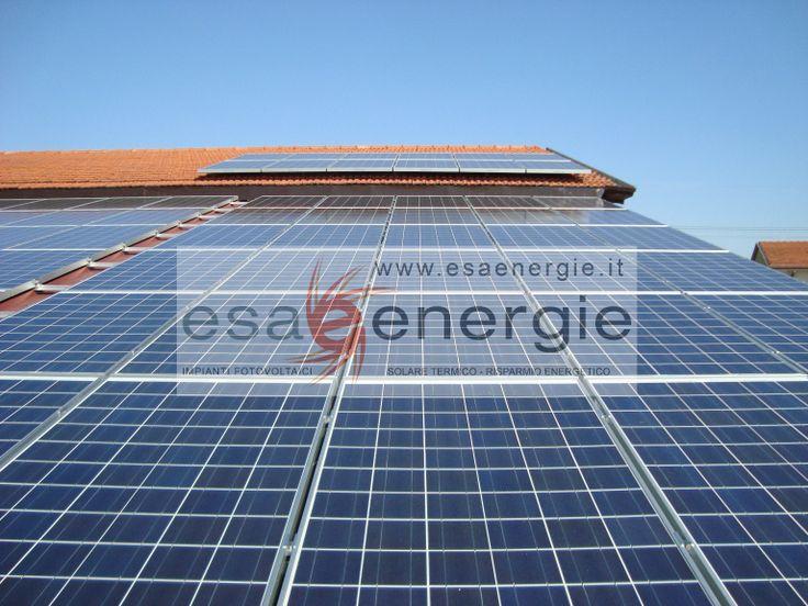 Impianto fotovoltaico in provincia di Pordenone. (www.esaenergie.it)