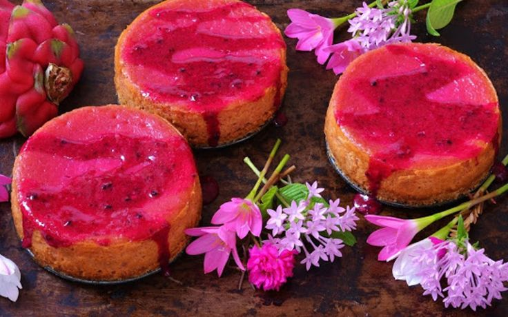 Dragon Fruit Cheesecake With Coconut Oat Crust #Vegan | One Green Planet