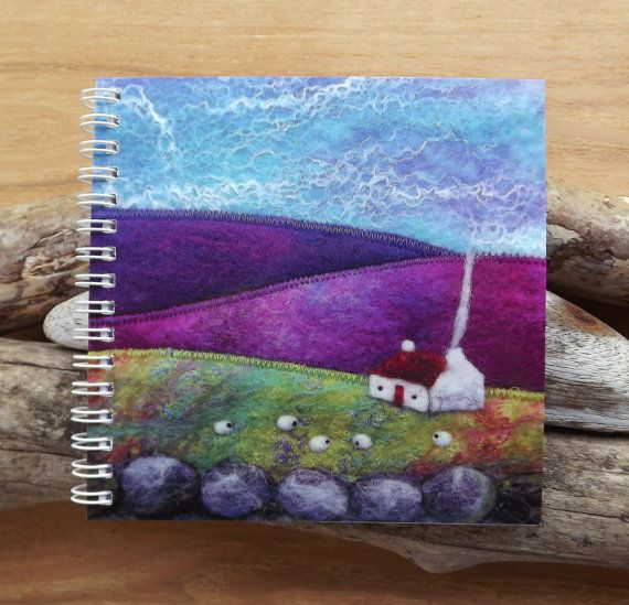 Notebook with Printed Cover Featuring a Felt Landscape Scene. £4.95, via Etsy.