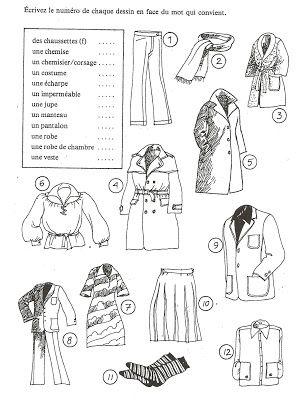 Français Langue Étrangère - A1: vêtements