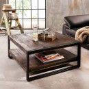 coffee table vintage, vintage coffee table, coffee table wood metal, coffee table indus …