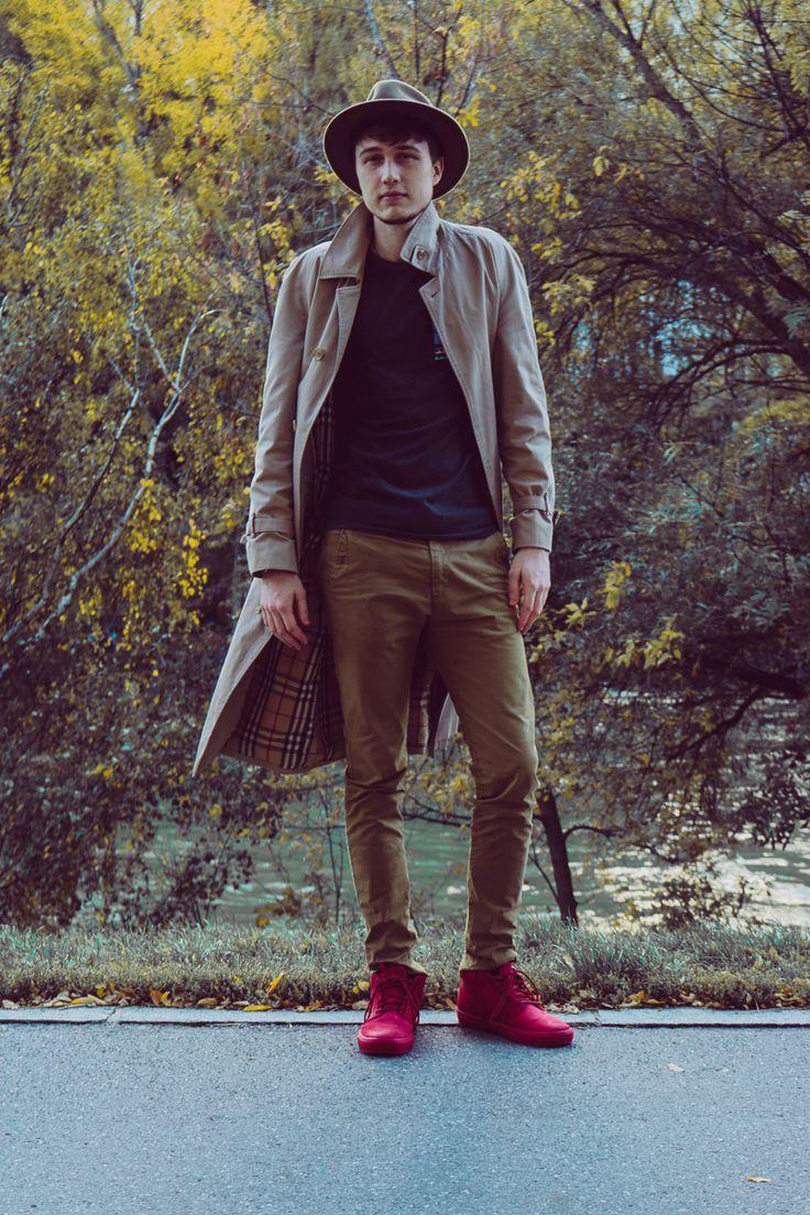 Mit diesem 18-Jahre alten Burberry Trenchcoat kann man gar nichts falsch machen … Vintage Outfit.