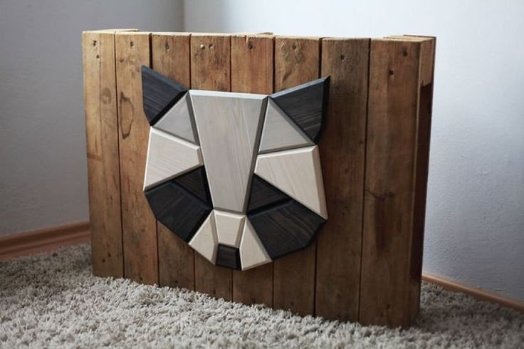 Wooden Zoo Geometric Animal Heads Made From Wood http://designwrld.com/geometric-animal-heads-made-wood/