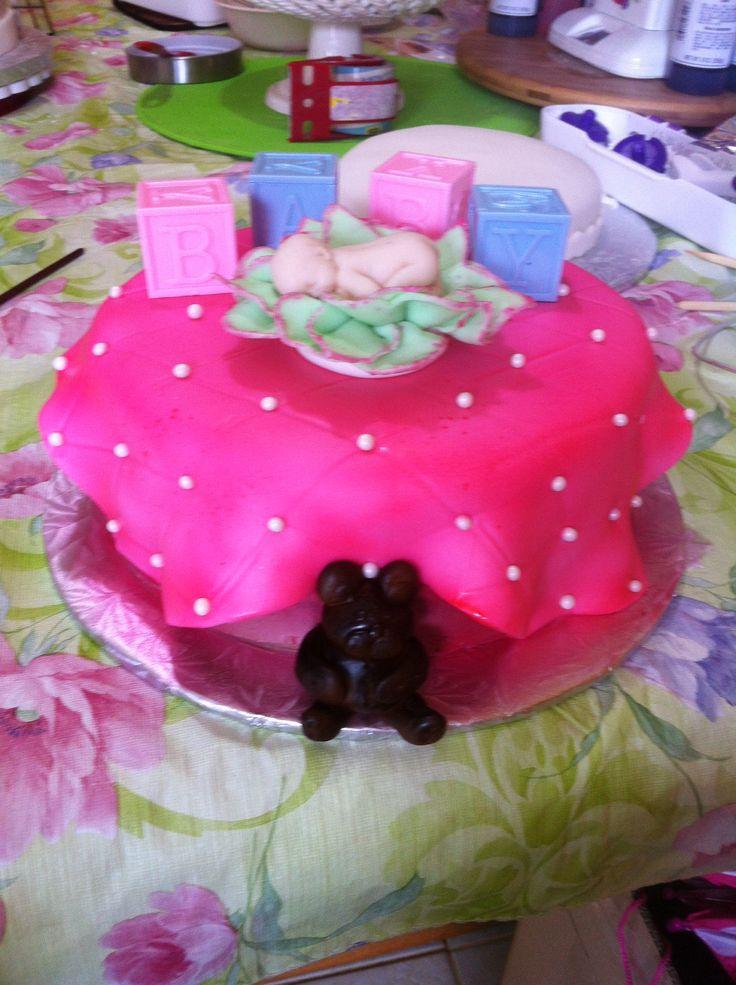 Baby shower cake or diaper shower