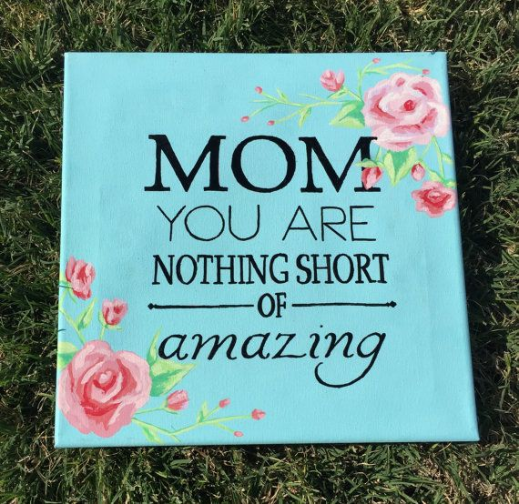 This canvas is perfect for Mother's Day!