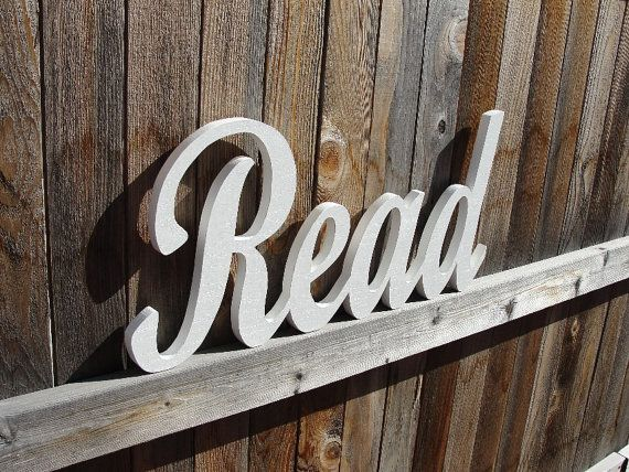Read Sign Wooden Words Wood Cut Out Read More Signs And
